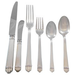 Aria by Christofle France Sterling Silver Flatware Service Set 48 Pcs Dinner