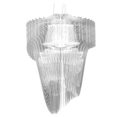 In Stock in Los Angeles, Aria Transparent Suspension Lamp by Zaha Hadid