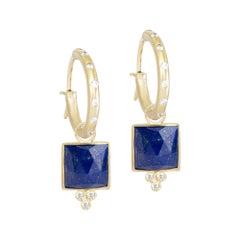 Ariana Lapis 18 Karat Gold Earrings
