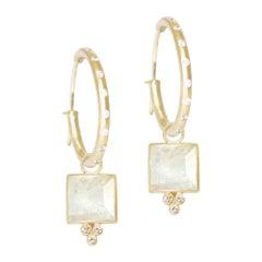 Ariana Moonstone 18 Karat Gold Earrings