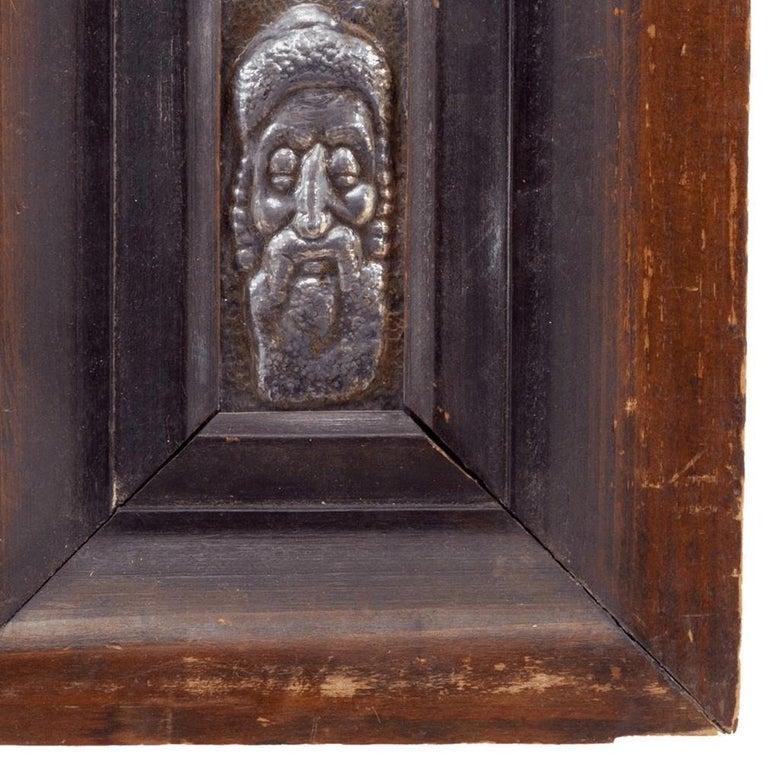 Jerusalem Rabbi, Repousse Sculpture Relief Plaque Israeli Judaica For Sale 1