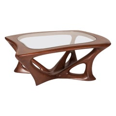 Ariella Coffee Table, Solid Wood, Walnut Stained