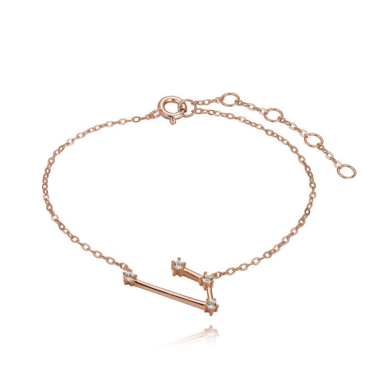 You are unique and your zodiac tells part of your story.  How your zodiac is displayed in the beautiful nighttime sky is what we want you to carry with you always. This aries constellation bracelet shares a part of your personality with us all  .925