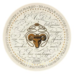 Aries, Zodiac Plate Series by Piero Fornasetti, 1966