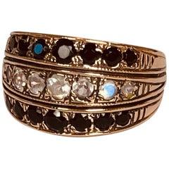 Arik Kastan 14K Rose Gold Moonstone & Black Onyx Ring sz 6.5