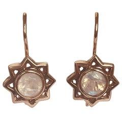 Arik Kastan 14K Rose Gold Moonstone Drop Earrings
