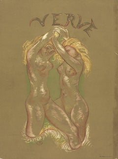 1939 Aristide Maillol 'Verve (Cover Only)' Impressionism Brown France Lithograph
