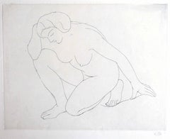 Nude of Woman - Original Etching by Aristide Maillol - 1970 ca.