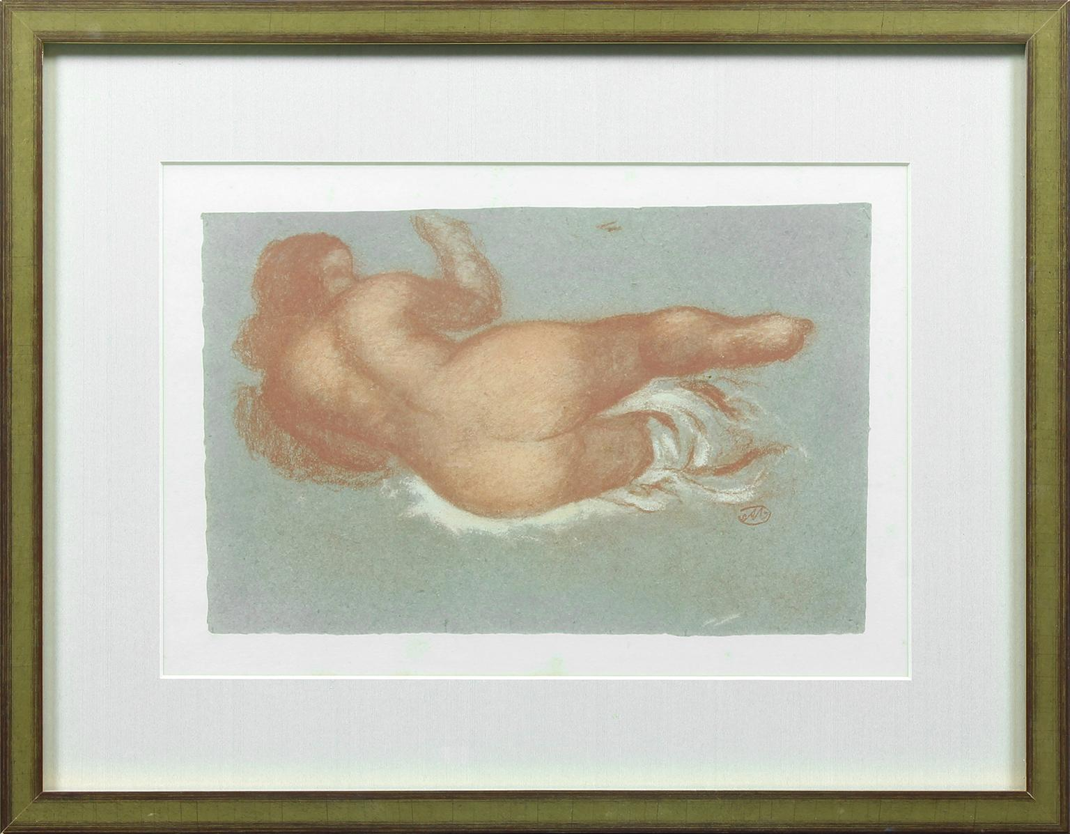 Untitled framed lithograph by Aristide Maillol