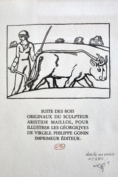 Woodcut Etching from Georgics by Virgil