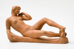 Jeune fille couchée, Aristide Maillol ( Terracotta Female Nude Sculpture)