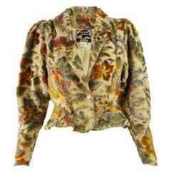Aristos 1970s Vintage Velvet Puff Sleeve Jacket