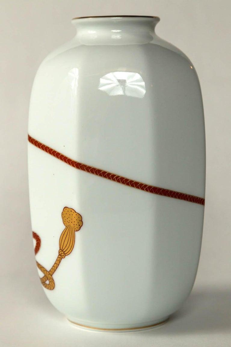 Aritaware Porcelain Vase, Fukagawa, Japan, 20th Century For Sale 3