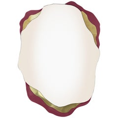 Arizona Mirror, Brass and Red Lacquered, InsidherLand by Joana Santos Barbosa