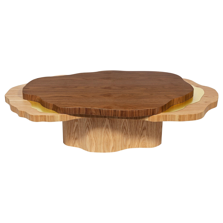 Arizona Coffee Table, Brass Walnut Oak, InsidherLand by Joana Santos Barbosa
