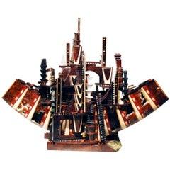 Ark #4 Unique Mix-Wood Sculpture by Po Shun Leong