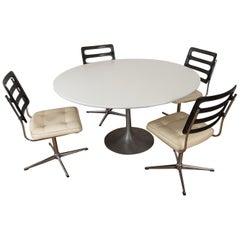 Arkana Tulip Table by Maurice Burke with 4 Chairs