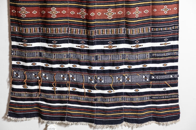 Hand-Woven Arkilla Kerka Fulani Wedding Blanket For Sale