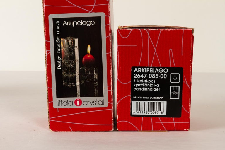 Arkipelago Candlesticks by Timo Sarpaneva for Iittala, 1970s, Set of 2 For Sale 5