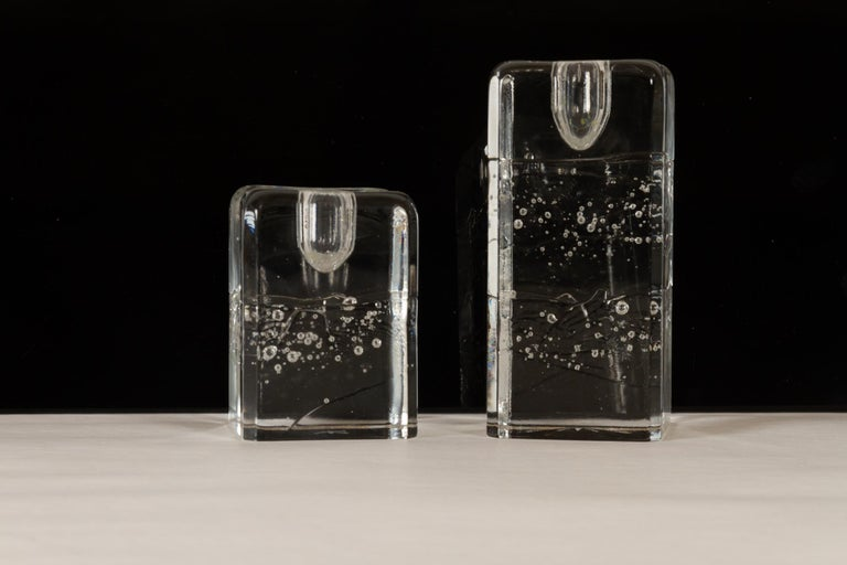 Arkipelago Candlesticks by Timo Sarpaneva for Iittala, 1970s, Set of 2 In Excellent Condition For Sale In Nibe, Nordjylland