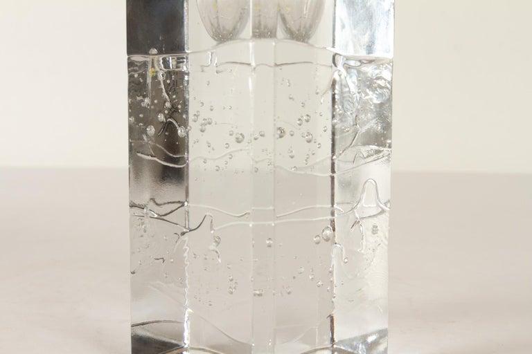 Crystal Arkipelago Candlesticks by Timo Sarpaneva for Iittala, 1970s, Set of 2 For Sale