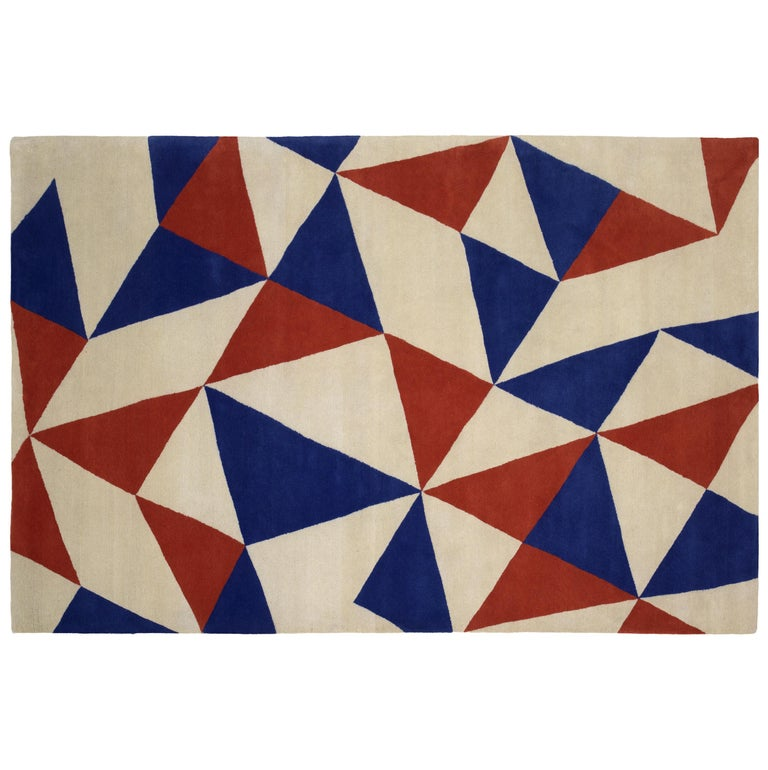 Arlecchino Carpet, Hand Knotted in Wool, 100 Knots, Donata Parruccini For Sale