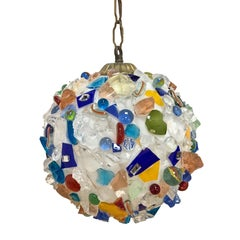 Arlecchino Italian Ball Chandelier from the 1970s, Glass Multi-Color, Italy