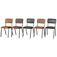 Arlington Modern Stacking Chairs 'Gunmetal Frame', 20th Century