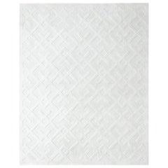 Arlo, Contemporary Modern Hand Loom Area Rug, White