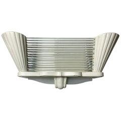 Arlus France, Art Deco Glass Rod Wall Light