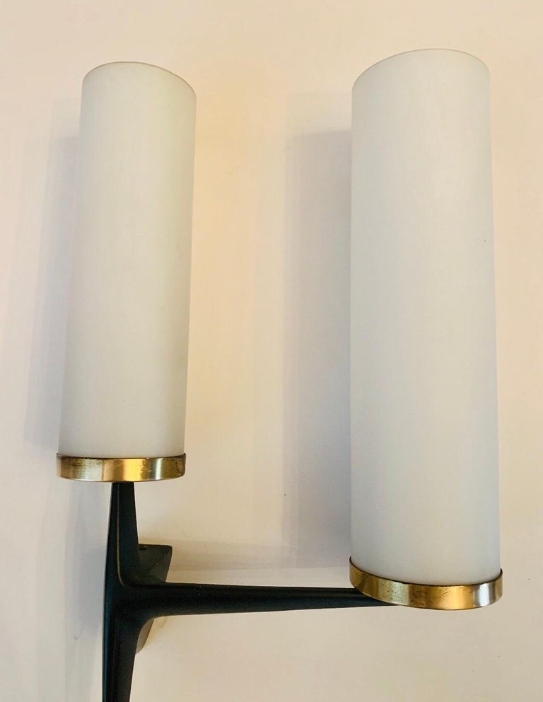 Arlus French 1960s Sculptural Wall Light For Sale 4