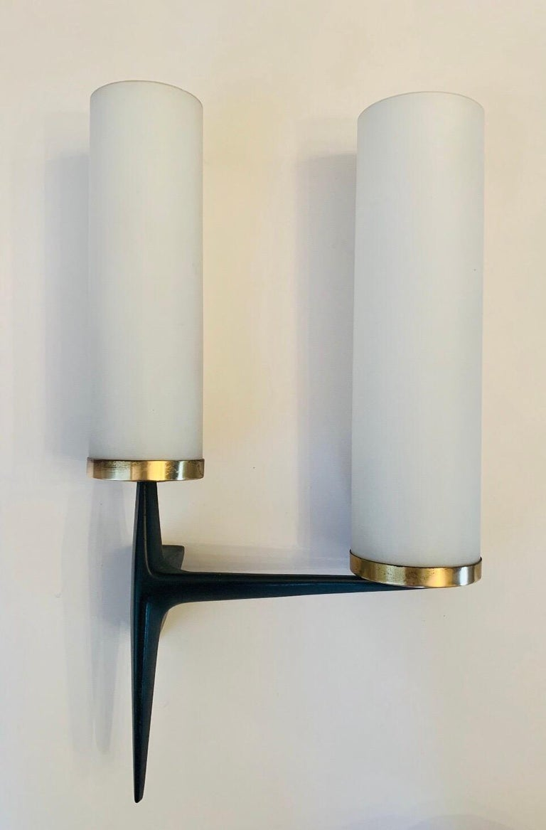 Arlus French 1960s Sculptural Wall Light For Sale 5