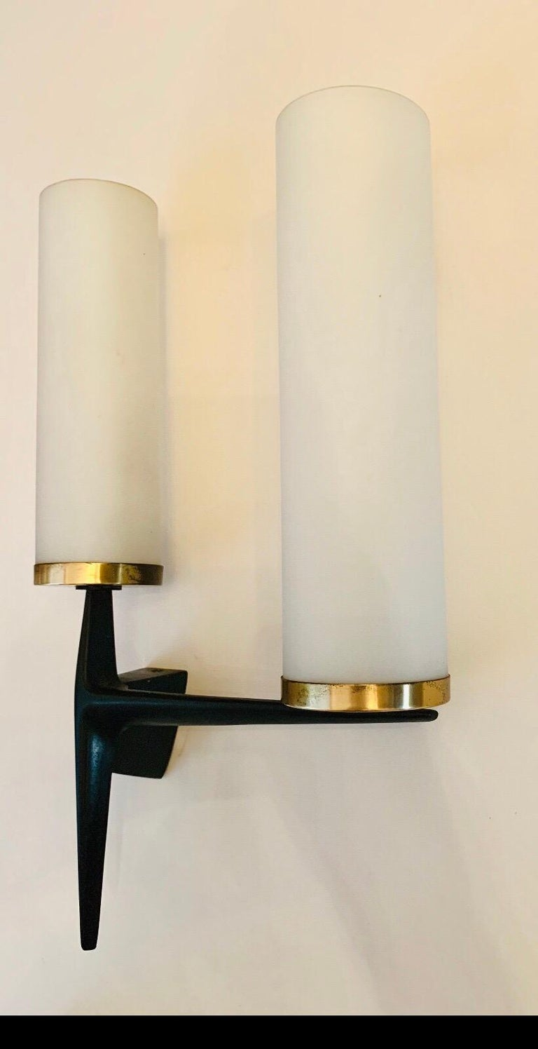 Arlus French 1960s Sculptural Wall Light For Sale 8