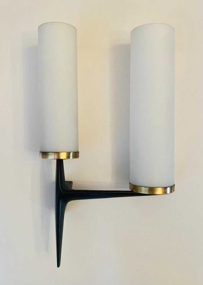 Arlus French 1960s Sculptural Wall Light For Sale 9