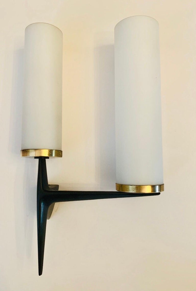 Enamel Arlus French 1960s Sculptural Wall Light For Sale