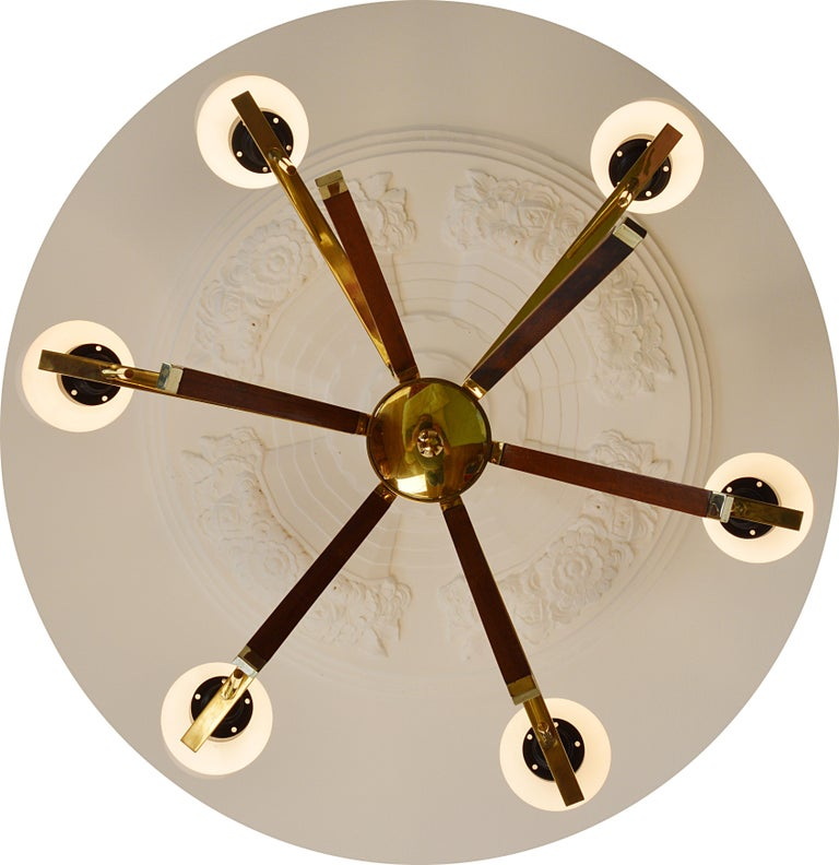 Mid-Century Modern Arlus French Midcentury Chandelier, 1960s For Sale