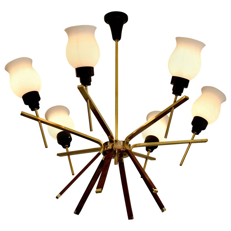 Arlus French Midcentury Chandelier, 1960s For Sale
