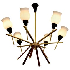 Arlus French Midcentury Chandelier, 1960s
