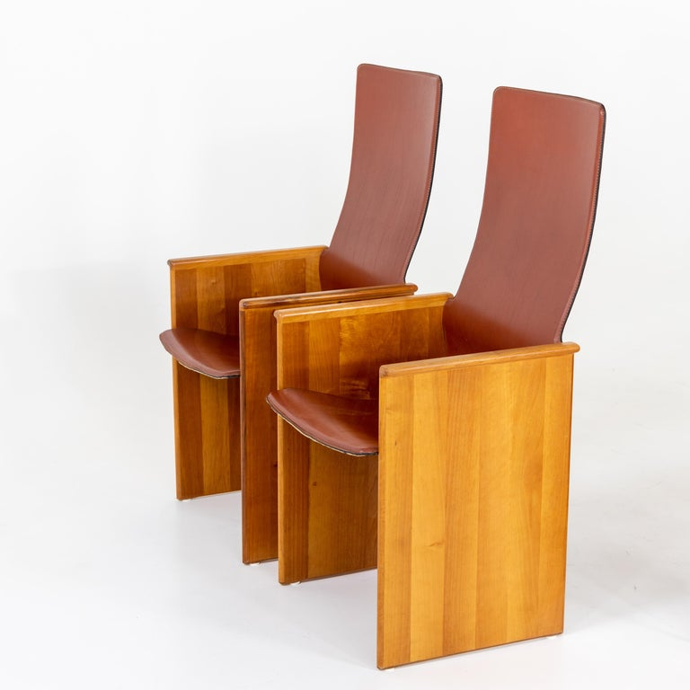 Mid-Century Modern Arm Chairs by Afra and Tobia Scarpa, 1960s