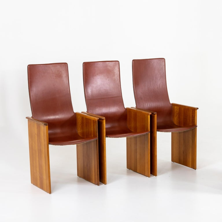 Late 20th Century Arm Chairs by Afra and Tobia Scarpa, 1960s