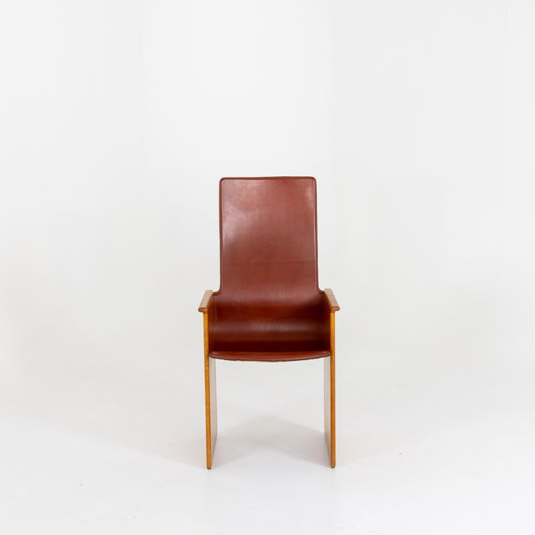 Leather Arm Chairs by Afra and Tobia Scarpa, 1960s