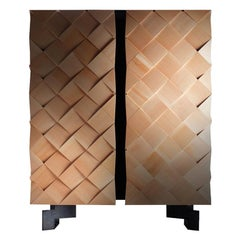 Armadillo Cabinet in Linden Wood and Smoked Eucalyptus