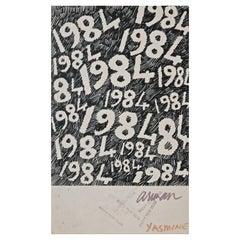 "Arman ""1984"" Original New Years Greeting"