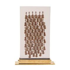 Arman 100 Violins Original Edition with Bronze Violins Accumulated in Resin