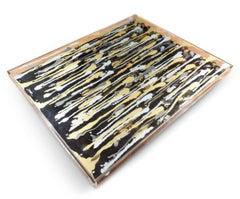 Arman Kerouan Table Coffee Table In Plexiglas, Steel & Varnish Bottles