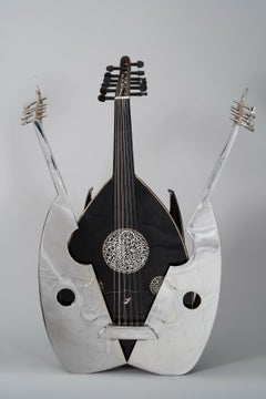 Arman Oud Open Tuning Original Artwork in Silvered Bronze and Wood Instrument
