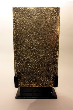 Arman Small Aleph Accumulation of Ball Bearings in Polyester Resin