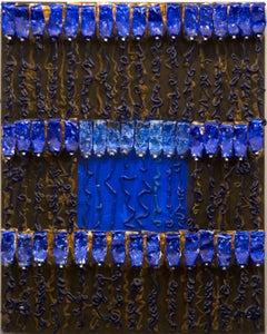 Untitled (Blue Over Brown)