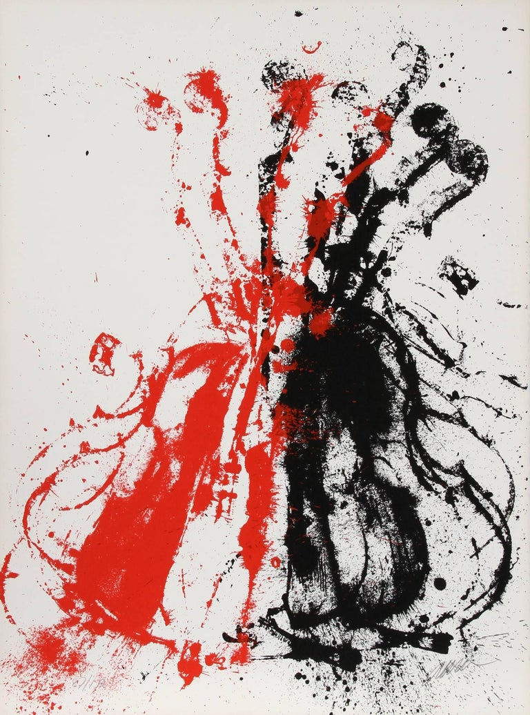 Artist:  Arman, French (1929 - 2005) Title:  Violents Violin II Year:  1978 Medium:  Serigraph, signed and numbered in pencil Edition:  150, AP 30 Size:  30 in. x 22 in. (76.2 cm x 55.88 cm)