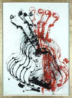 Violins (Red and Black) lithograph  by Arman, Edition 111 of 150